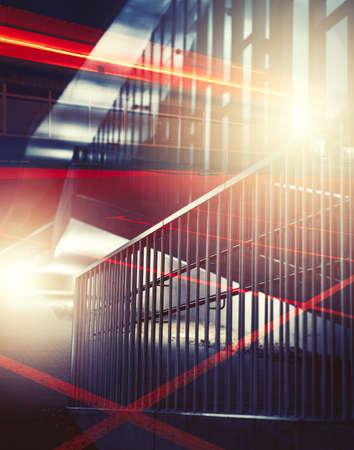 estilo urbano: Fondo urbano exposición múltiple abstracta.