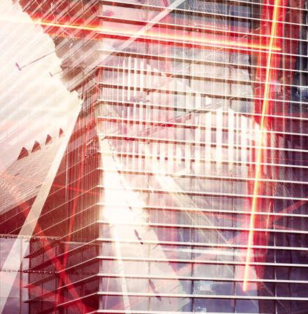 exposicion: Fondo urbano exposición múltiple abstracta.