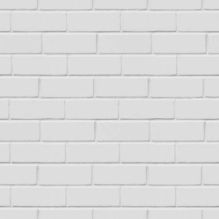 Seamless white brick wall background, texture Stock Photo - 42104117