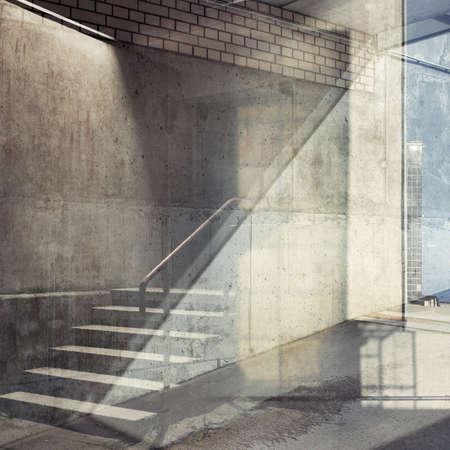 estilo urbano: Fondo urbano exposici�n m�ltiple abstracta. Detalles arquitect�nicos.