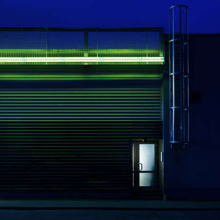 street night: Architectural forms in the dark