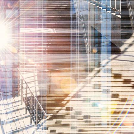 multiple exposure: Abstract esposizione multipla di fondo urbano. I dettagli architettonici.