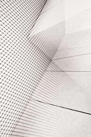 Abstract dubbele belichting achtergrond. Architectonische vormen. Stockfoto