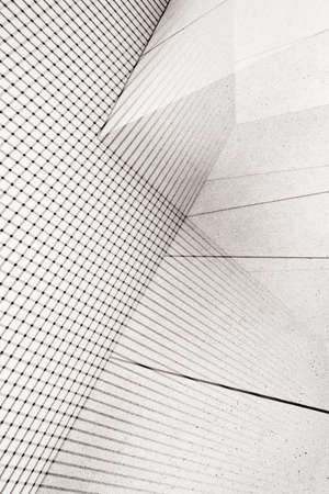 Abstract double exposure background. Architectural forms.
