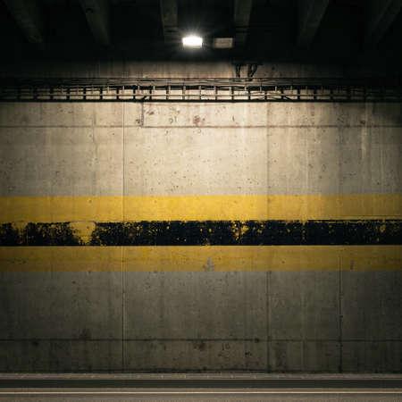 spotlight: Concrete garage wall with spotlight