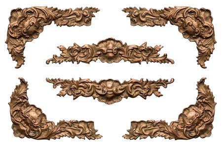 cobre: elementos de marco de metal adornado de la vendimia