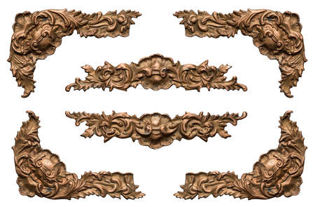 Ornate vintage metal frame elements
