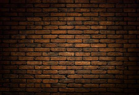 Donkere bakstenen muur achtergrond, textuur