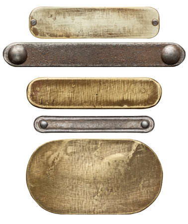 metal: Various metal textures, isolated on white background