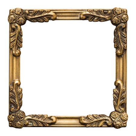 antique gold picture frames: Ornate vintage metal photo frame Stock Photo