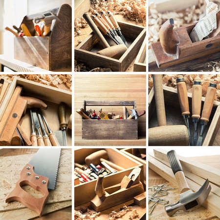 carpentry: Tools for woodwork, carpentry and other crafts
