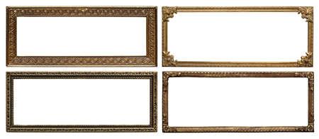 marcos de metal cosecha de entre ornamentados