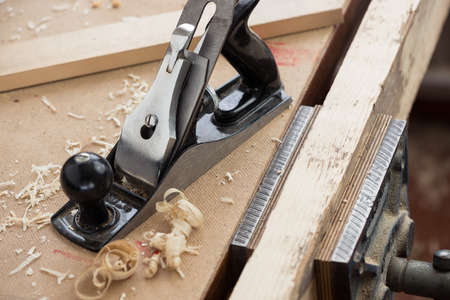 carpenter vise: Metal hand plane for woodworking and carpentry.