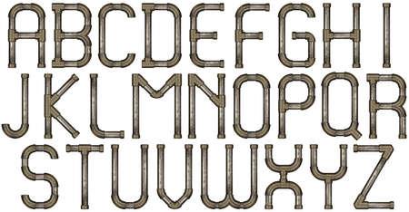 metalowe do celów przemysłowych litery alfabetu rura
