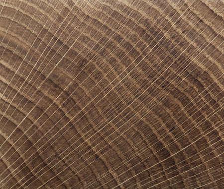 cross cut: End grain wood background. Cross cut oak texture close up. Stock Photo