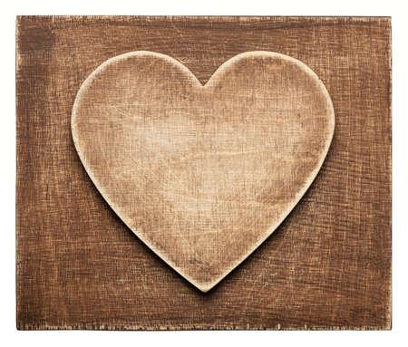 Houten hart vorm achtergrond