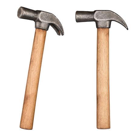 manejar: Antiguo martillo con mango de madera rústica. Foto de archivo