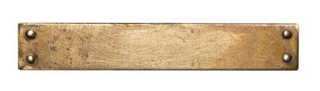 Laiton plaque texture. Vieux fond en métal avec des rivets. Banque d'images