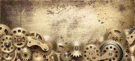 Mechanische Collage Uhrwerkgänge gemacht