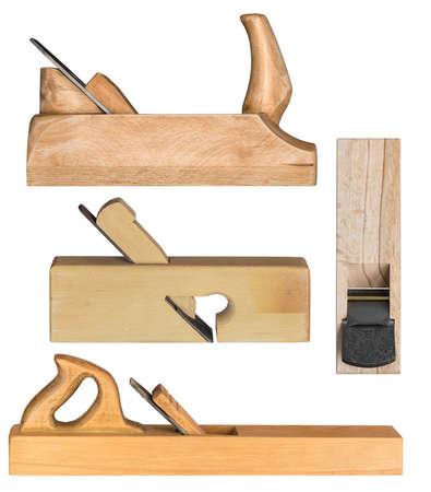Plans à main en bois pour le travail du bois et la menuiserie. Banque d'images