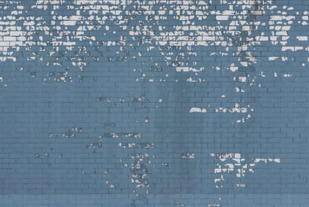 Aged blue brick wall background, texture