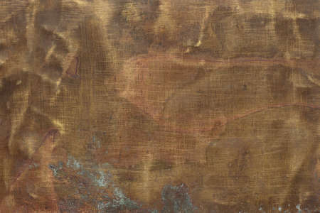 Brass plate texture, old metal background. 版權商用圖片