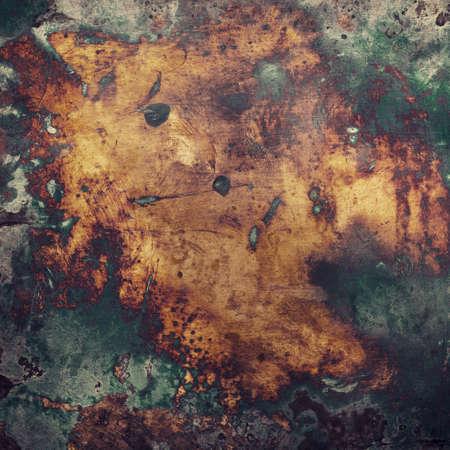 Dark aged copper texture. Grunge metal background.