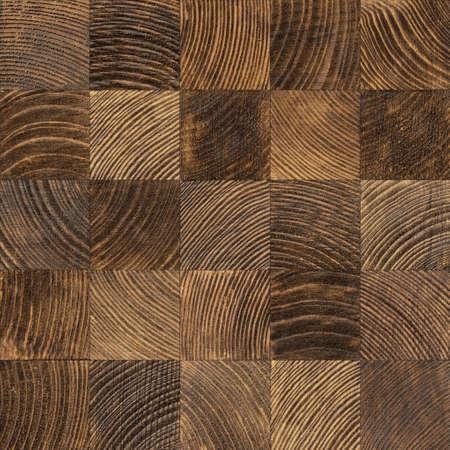 Seamless end grain wood texture. Cross cut lumber blocks. 版權商用圖片