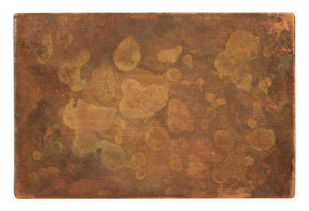 Aged copper plate texture, old worn metal background. 版權商用圖片 - 85505113