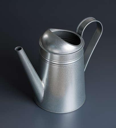 Metal watering can on gray background photo 版權商用圖片 - 85505143
