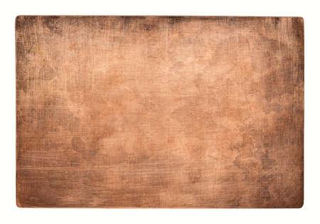 Aged copper plate texture, old worn metal background. 版權商用圖片 - 85505152