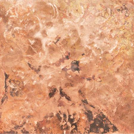 Aged copper plate texture, old worn metal background. 版權商用圖片 - 85505146