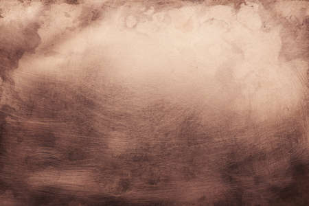 Aged copper plate texture, old worn metal background. 版權商用圖片 - 85505177