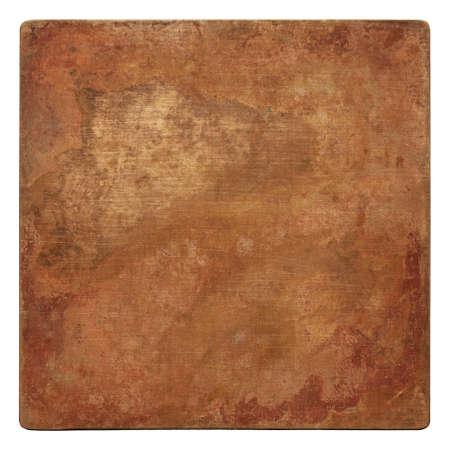 Aged copper plate texture, old worn metal background. 版權商用圖片 - 85505140
