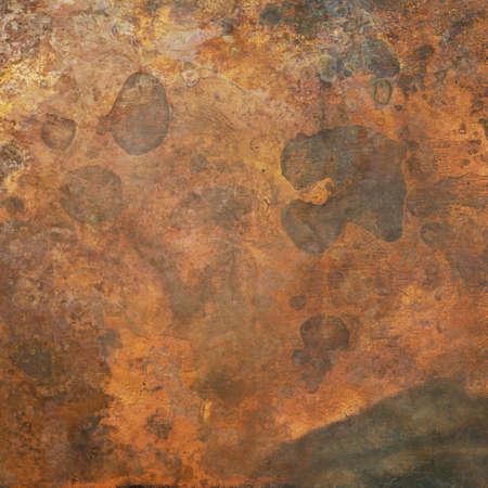 Aged copper plate texture, old worn metal background. 版權商用圖片 - 87938327