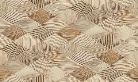 Seamless end grain wood texture. Cross cut lumber blocks. Stock Photo