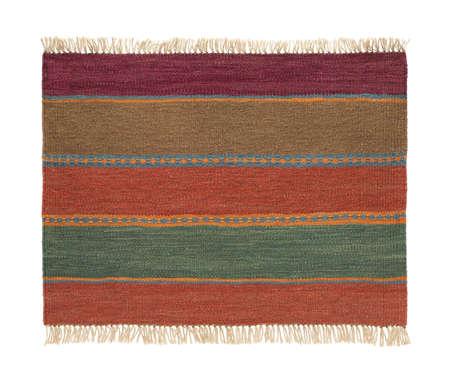 Traditional handmade colorful rug, isolated. 版權商用圖片 - 93747223