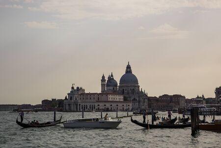 San Marco basilica and gondolas in Venice - Venezia . Italy