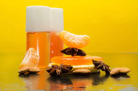 winter spa with clementine, almond and star anise photo