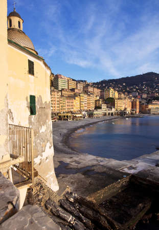 camogli church and village