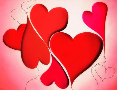 hearts shape balloons tangle Stock Photo - 17831410
