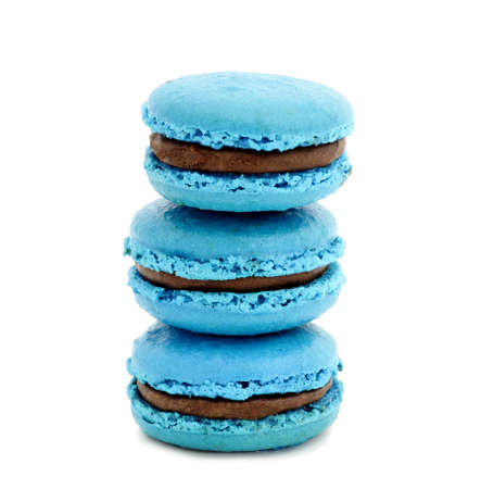 finer: azul sobre blanco macarrones