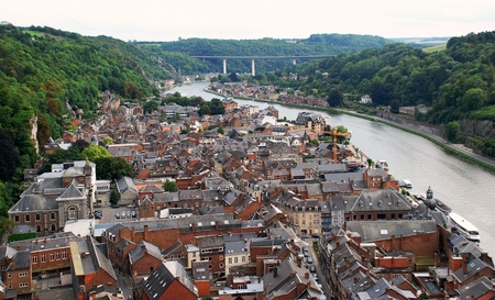 meuse: The River Meuse valley with the town of Dinant
