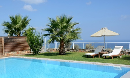 Private oceanside swimming pool - private pool with a view of the Mediterranean photo