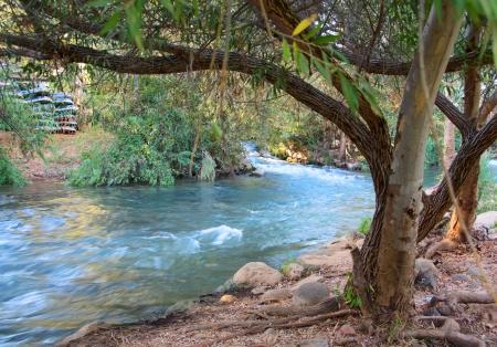 east river: Jordan River - Jordan River at the Hazbani, one of the streams feeding the main Jordan in the North of Israel
