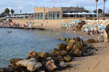 caesarea: Caesarea Harbor and the Mediterranean before Sunset
