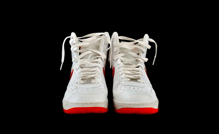 Pair Of High-top Classic White Leather