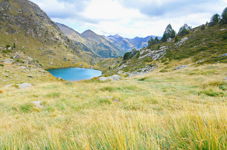 tourism in andorra: Estany de Mes Amunt - one of the three lakes of Tristaina (Estanys de Tristaina) in Andorra