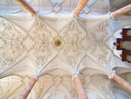 ferdinand: INNSBRUCK, AUSTRIA - APRIL 9, 2015: Ceiling of the Hofkirche (Court Church) - An Ornate Gothic church with tombs of Emperor Maximilian I and Archduke Ferdinand in Innsbruck, Austria