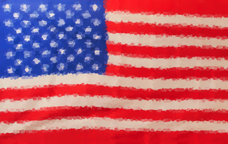 abstractly: Abstractly painted USA United States of America Flag Editorial